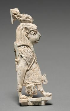 Decorative Plaque: Winged Sphinx, 900-800 BC Phoenician, Iraq, Nimrud, 9th-8th Century BC  ivory