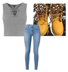 Untitled #25 by kayleenarian on Polyvore featuring polyvore, fashion, style, Topshop, 7 For All Mankind and Timberland