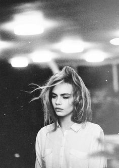 Cara Delevingne – Black and white portrait