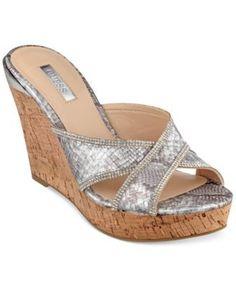 GUESS Eleonora Platform Wedge Slide Sandals