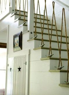 Nautical Stair Rail -