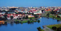 Nemiga river Minsk, Belarus