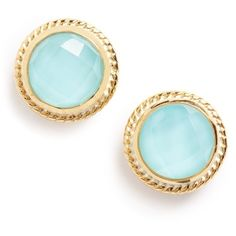 Women's Anna Beck Stone Stud Earrings (125 CHF) ❤ liked on Polyvore featuring jewelry, earrings, turquoise, stud earrings, stone earrings, braid jewelry, stone jewelry and anna beck jewelry