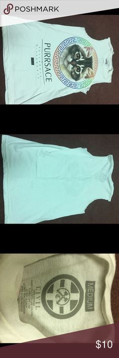 Civil cat tank Great condition purrsace cut off tank size medium Tops Muscle Tees