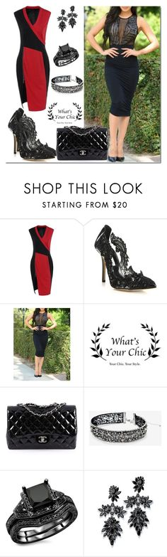 """""""Win 25$ on paypal with Whats Your Chic !!!!"""" by semir-damira ❤ liked on Polyvore featuring Oscar de la Renta, Chanel, White House Black Market, Fallon and WhatsYourchic"""