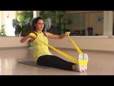 Упражнения с эластичной лентой № 1. Фитнес Дома - YouTube