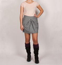 Falda gris ICHI mini
