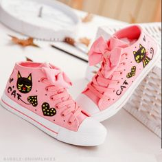 ♡ bow canvas shoes ♡