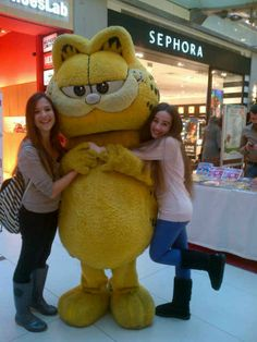"""Garfield said: diet is die with a """"t"""". Mascotshows.com offers garfield mascot costume."""