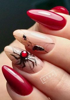 News for Nail Art Lovers - My Beauty Discovery Holloween Nails, Cute Halloween Nails, Halloween Acrylic Nails, Halloween Nail Designs, Halloween 2020, Fall Halloween, Cute Nails, Pretty Nails, Witchy Nails