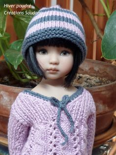 """So cute!! 40. English and French PDF KNITTING PATTERN (2 are available) 13"""" dolls Little Darling, Narsha, Zihu. $11.00, via Etsy."""