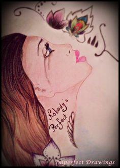 love,sad,tears,cry,tattoo,draw,carolina dudrova,girl,face
