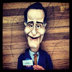 Geek Art Gallery: Crafts: Obama and Romney Marionettes