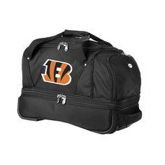Denco Sports Luggage NFL Cincinatti Bengals 22-inch Carry On Drop Bottom Rolling Duffel