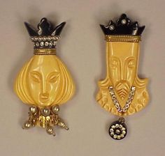 Two Bakelite Heraldic Brooches for Sale at Auction on Wed, 11/01/2000 - 07:00 - Couture and Textiles | Doyle Auction House
