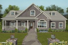 Country House Plan Explore Plan a 2099 sq. Country house plan with 4 bedrooms 3 bathrooms a home office hearth room and a 3 car garage. The post Country House Plan appeared first on Architecture Diy. 4 Bedroom House Plans, Basement House Plans, Craftsman Style House Plans, Country House Plans, Country Homes, Craftsman Ranch, Craftsman Cottage, Craftsman Homes, Craftsman Exterior