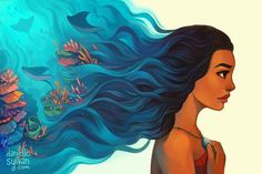 Image uploaded by Grimaldi. Find images and videos about art, disney and moana on We Heart It - the app to get lost in what you love. Moana Disney, Disney Pixar, Disney And Dreamworks, Disney Animation, Disney Movies, Disney Characters, Disney Stuff, Disney Ships, Punk Disney