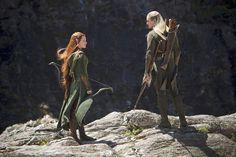 Le Hobbit : la Désolation de Smaug : Photo Evangeline Lilly, Orlando Bloom