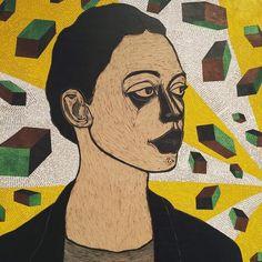 Portrait of a Woman by contemporary Ethiopian artist Ephrem Solomon.