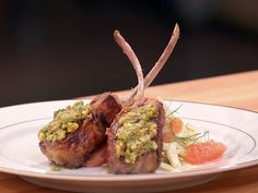 Seared Rack of Lamb with Pistachio Tapenade, recipe courtesy of Chef Anne Burrell