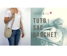 DIY round crochet bag with trapilho yarn Crochet Video, Crochet Diy, Filet Crochet, Punch Needle, Star Fashion, Pouch, T Shirts For Women, Wool, Knitting