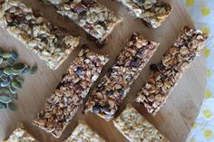Breakfast Snacks, Granola Bars, Healthy Snacks, Yummy Food, Bread, Vegan, Sweet, Desserts, Recipes