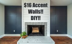 Fireplace Accent Walls, Home Fireplace, Fireplace Remodel, Living Room With Fireplace, Fireplace Design, Fireplace Feature Wall, Shiplap Fireplace, Modern Fireplace, Feature Wall Living Room