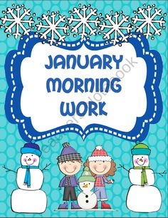 January Morning Work product from Krogers-Kindergarten on TeachersNotebook.com