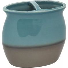 Better Homes and Gardens Reactive Glaze Ceramic Accessories Collection - Toothbrush Holder