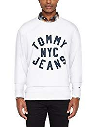 4746be07 $60.95 - Tommy Jeans Men's Essential Graphic Sweatshirt, White - -  labeltail.com #Tommy #Jeans #Men's #Essential #Graphic #Sweatshirt, ...