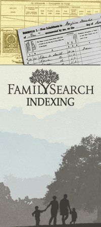 Family Search Indexing - Do It!