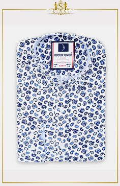 Shop Doctor Junior Boys Slim fit Paisley Printed Casual Shirt in White and Navy at SIRRI. Premium quality shirts that are great for little boys, they're made from strong cotton so they're durable and easy to clean Cooler Look, Boys Shirts, Paisley Print, Slim Fit, Neue Trends, Vintage Looks, Printed Shirts, Casual Shirts, Shop Now