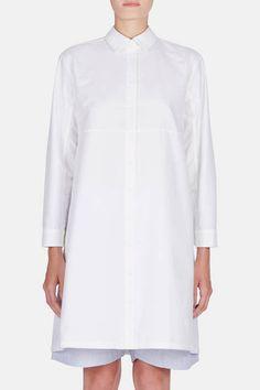 The Sleep Shirt — Button Down Sleep Shirt White Oxford — THE LINE