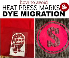 How to Prevent Dye Migration and Heat Press Marks on HTV Silhouette Cameo Tutorials, Silhouette Projects, Heat Press Vinyl, Heat Transfer Vinyl, Dark Colors, Light Colors, Silhouette School Blog, All Silhouettes, Pink Tone