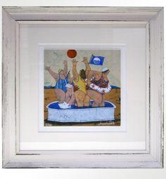 "Lisandro Rota (1946), ""Bandiera Blu"" Giclée ritoccata a mano, cm 17,5X17,5 cm (+ cornice 37X37) tiratura 200 es.  € 100,00 cornice artigianale inclusa"