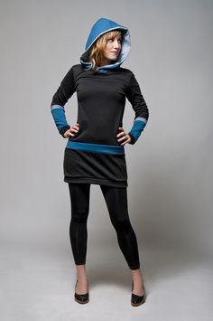Kleid Kapuze von JAQUEEN auf DaWanda.com
