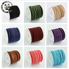 Promotion 3mm 5m/roll Mixed Color Faux Suede Cord DIY Lace Leather for Cloth Shoes Jewelry Making Finding Accessories Free Ship #Affiliate
