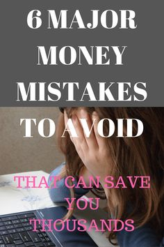 6 major money mistakes to avoid. I was young and stupid and had and a mound of debt. Here are 6 Major Money Mistake to Avoid that will save your sanity! Ways To Save Money, Money Tips, Money Saving Tips, How To Make Money, Budgeting Finances, Budgeting Tips, Making A Budget, Get Out Of Debt, Managing Your Money