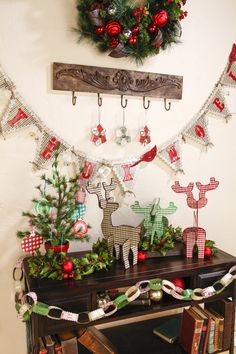 Deck the Halls! and walls and mantel and. Christmas Decorations Sewing, Christmas Projects, Holiday Crafts, Holiday Fun, Holiday Decorating, Holiday Ideas, Christmas Ideas, Cozy Christmas, All Things Christmas