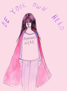 Feminist Hero Art Print
