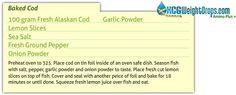 Baked Cod HCG Recipe