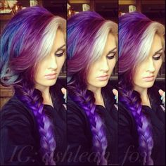 Okay, I would never do this to my hair but it looks freakin' awesome!