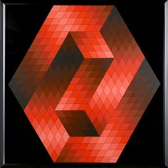GESTALT 4 // By: Victor Vasarely // Born: 1908, Died: 1997 // Hungarian // Date: 1960 // 80,0 x 80,0 cm / 31.5 x 31.5 in