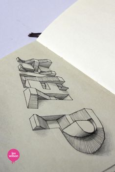 Wonderful Optical Illusions Of 3D Typography Popping Off The Page - DesignTAXI.com