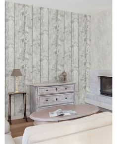 The Crown Luxe Windward Wood Wallpaper in Platinum Grey offers a realistic textured wood effect with a glitter twist. Free UK delivery available Wood Effect Wallpaper, Metallic Wallpaper, Platinum Grey, Whitewash Wood, Shag Rug, Wall Decor, Colours, Free Uk, Room