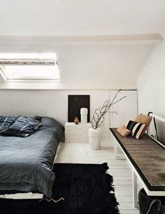Rooftop bedroom #Decoración #buhardillas #Dormers #garrets #attics