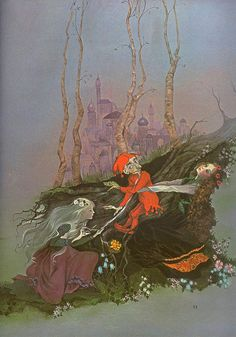 Big Golden Book of Fairy Tales 1981 4    The Big Golden Book of Fairy Tales 1978 / 1981. Retold by Lornie Leete-Hodge, illustrated by Beverlie Manson.  Snow White and Rose Red