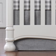 Gray crosshatch crib skirt perfect for a gender neutral nursery. This would great in a travel themed nursery too! Grey Yellow Nursery, Nursery Neutral, Gray Yellow, Nursery Design, Baby Design, Travel Theme Nursery, Themed Nursery, Whimsical Nursery, Crib Rail Cover