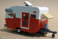 "LEGO camper: for my christmas village in case Eddy from Christmas Vacation visits :""Crappers Full"""