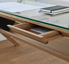 The Covet Desk, designed by Japanese-born Shin Azumi, is a simple, practical design with a neatly discreet integrated drawer.